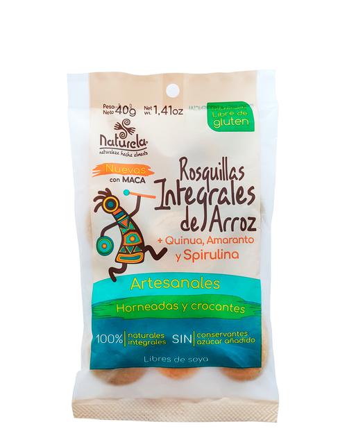 Rosquitas Integrales de arroz, spirulina y amaranto.