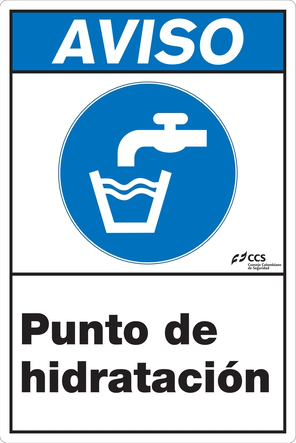 SEÑAL COVID-19 PUNTO DE HIDRATACIÓN