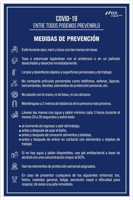 SEÑAL COVID-19 MEDIDAS DE PREVENCIÓN