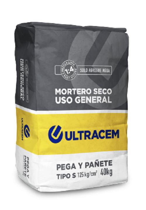 Mortero Seco Uso General  Tipo S  ULTRACEM 40 kilos