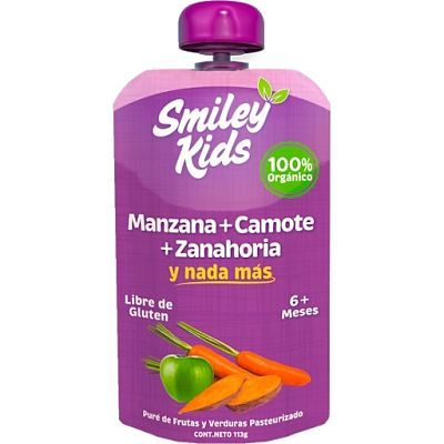 Smiley Kids Manzana + Camote + Zanahoria