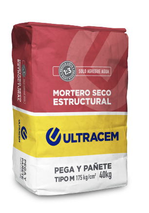 Mortero Seco Estructural  Tipo M  ULTRACEM 40 kilos