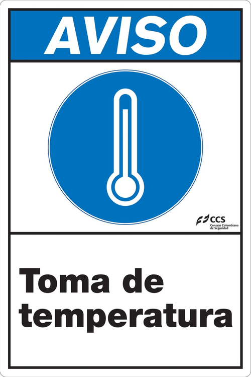 SEÑAL COVID-19 TOMA DE TEMPERATURA