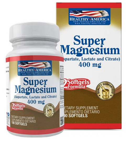 Magnesium super  400 mg  100 sof