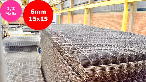 Media malla electrosoldada 6mm de 3x2,35m separación 15x15cm