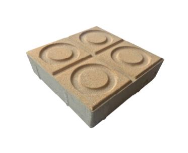 Bloque de Concreto para Pisos 20X20X6 Círculos, Tráfico Peatonal y Vehicular Liviano