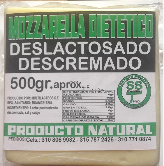 Queso mozarella  500 gr