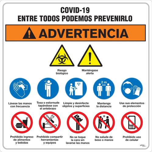 SEÑAL COVID-19 TABLERO INTEGRAL DE SEGURIDAD