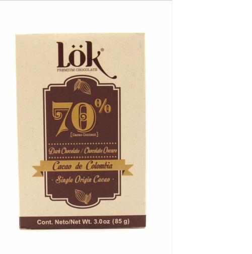 Chocolate cacao Lok 70%  85 gr