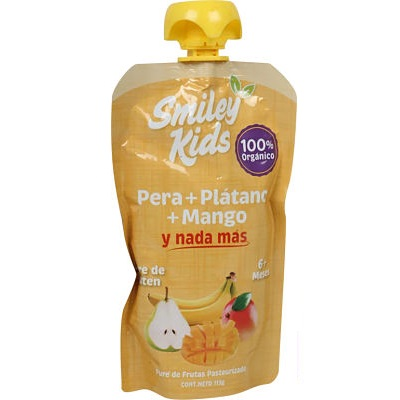Smiley Kids - Pera + Plátano + Mango