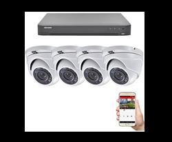 KIT CCTV para Obra incluye  4 Camaras 2MP exteriores + Grabador Video  + Instalación y programación.