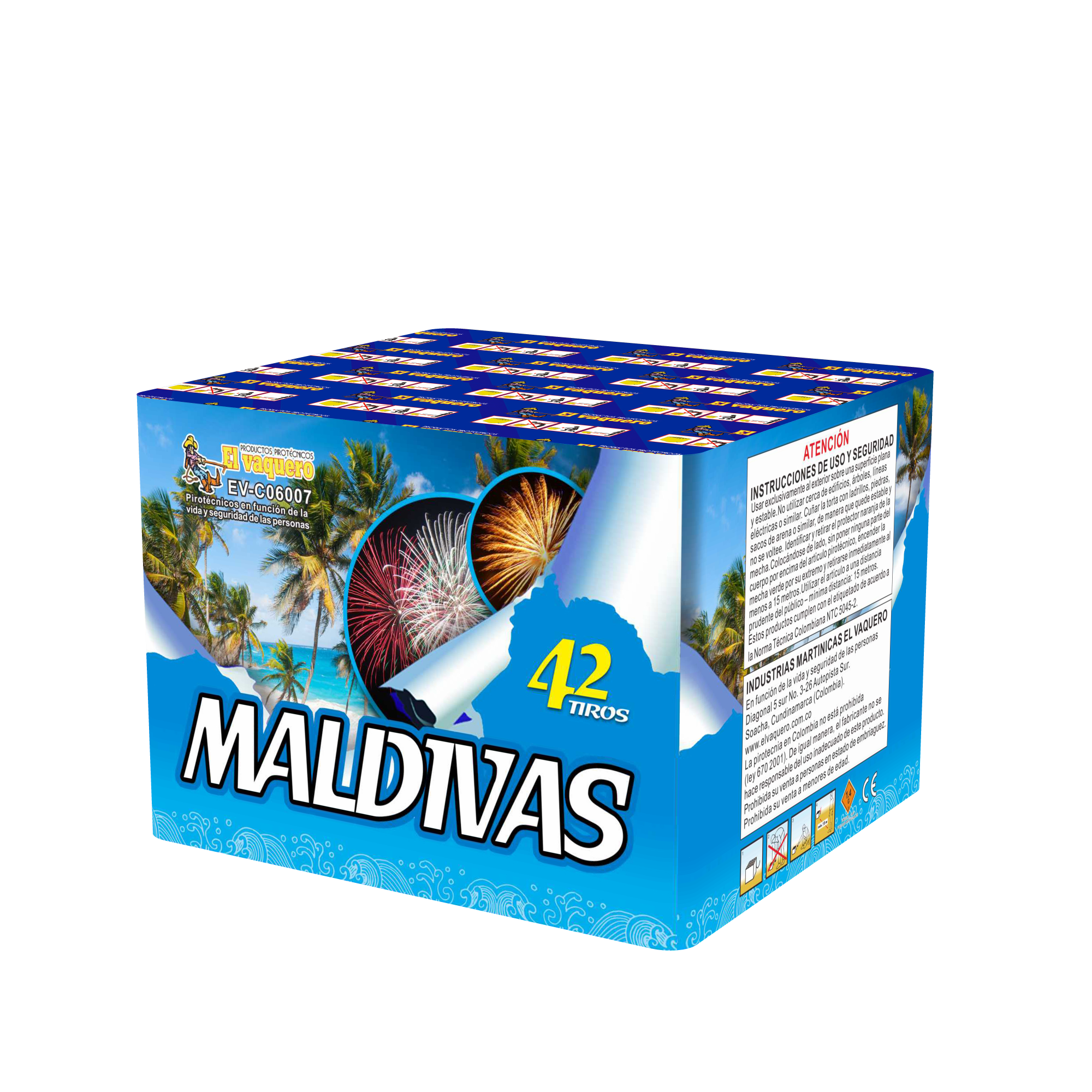 Torta Maldivas 42 tiros 0.8
