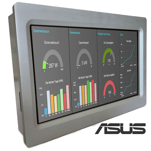 TinkerTouch S 10.1 UPS (Panel PC Industrial, Aluminum enclosure, EMC compliance - ASUS Quad-Core, 2GB, 16Gb eMMC+MicroSD slot - UPS function included - ANDROID)
